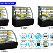 CURVED GLASS CAKE SHOWCASE (S-980A)