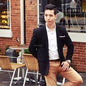 Jas Pria Formal Korean Style, Jas Casual Wedding Pengantin Wisuda Bk01