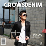 Blazer Black Korean Style, Outfit Shanghai Bk02