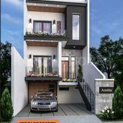 Rumah Minimalis 3 Lantai Siap Bangun Depan Danau Bukit Golf Cibubur