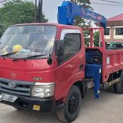 Truck Crane Toyota Dyna Model 115ET Kapasitas 3 Ton