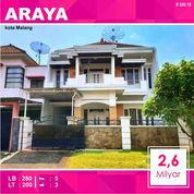 Rumah 2 Lantai Luas 200 Di Golf Araya Kota Malang _ 300.18 (22643207) di Kota Malang