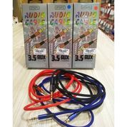 Kabel Aux Audio Popo 1 Meter Kualitas Bagus Gold Plated