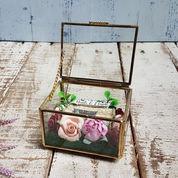 Kotak Cincin Pernikahan Glassbox Segi Empat