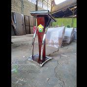 Furniture Stock Podium Jati Minimalis Stainless Steel Untuk Instansi (22734303) di Kota Padang
