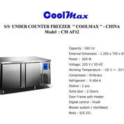 S/S UNDER COUNTER FREEZER COOLMAX CM AF12 (22747627) di Kota Jakarta Timur