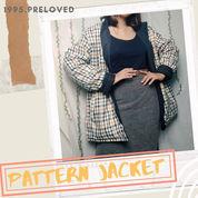 Preloved Pl Baju Outer Jacket Tartan Motif Wanita Cewek Murah Korean Vintage Bohemian Casual Winter (22753915) di Kab. Indramayu