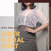 Preloved Pl Baju Blouse Kemeja Outer Sheer Putih Floral Wanita Cewek Murah Korean Vintage Lace (22753931) di Kab. Indramayu