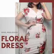 Preloved Pl Baju Dress Motif Floral Pattern Wanita Cewek Murah Korean Vintage Bohemian Boho Summer