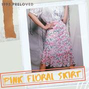 Preloved Pl Bawahan Rok Motif Pattern Bunga Flower Floral Bohemian Boho Vintage Korean Wanita Cewek