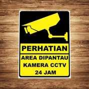 Stiker CCTV Bikin Grogi Malang Kota Gratis Antar