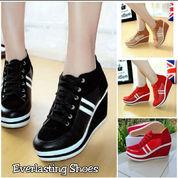 Sepatu Wedges Wanita Sneakers Sneaker Wedge Hak Tinggi Semi Boot Suede Premium Shoe Shoes Hitam Blac (22785791) di Kota Jakarta Barat