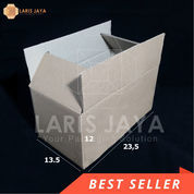 Kardus Packing Polos Single Wall 23,5 X 13,5 X 12 Cm (Isi 25 Pcs)