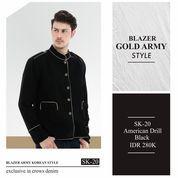 Blazer Jas Hitam Gold Edition Sk20