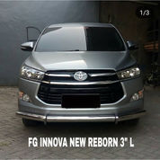 "Bemper Depan Stainless Toyota New Innova Reborn 3"" L"