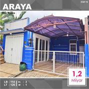 Rumah Furnished Luas 126 Di PBI Araya Kota Malang _ 647.19 (22813343) di Kota Malang