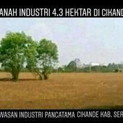 Tanah Kavling Industri 4.3Ha Pancatama Cikande Banten (22844511) di Kab. Serang