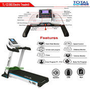 Treadmill Elektrik Motor 3 HP Total Fitness TL-123 Auto Incline Free Trampolin (22853611) di Kota Jakarta Barat