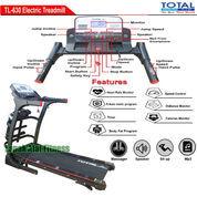 Alat Fitness Treadmill Elektrik 3 Fungsi Motor 2 HP TL-630 Auto Incline Total Fitness