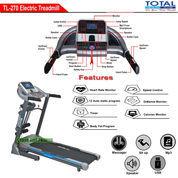 Alat Fitness Treadmill Elektrik 3 Fungsi Motor 2 HP TL-270 Auto Incline Total Fitness