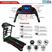 Alat Fitness Treadmill Elektrik 4 Fungsi Motor 2 HP TL-618 Manual Incline Total Fitness