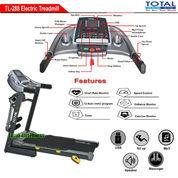 Alat Fitness Treadmill Elektrik 3 Fungsi Motor 2 HP TL-288 Manual Incline Total Fitness