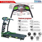 Alat Fitness Treadmill Elektrik 5 Fungsi Motor 2 HP TL-133 Auto Incline Total Fitness