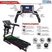 Alat Fitness Treadmill Elektrik 4 Fungsi Motor 2 HP TL-645 Manual Incline Total Fitness