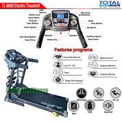 Alat Fitness Treadmill Elektrik 4 Fungsi Motor 2 HP TL-8600 Manual Incline Total Fitness
