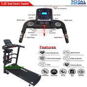 Alat Fitness Treadmill Elektrik 4 Fungsi Motor 1.5 HP TL-607 Flat Incline Total Fitness