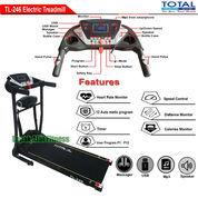 Alat Fitness Treadmill Elektrik 2 Fungsi Motor 1.5 HP TL-246 Flat Incline Total Fitness
