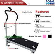 Alat Fitness Treadmill Manual Mini 1 Fungsi TL-001 Total Fitness Murah