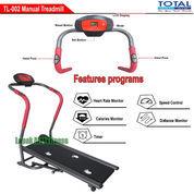 Alat Fitness Treadmill Manual 1 Fungsi Anti Gores TL-002 Total Fitness Murah