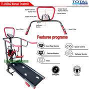 Alat Fitness Treadmill Manual 5 Fungsi Anti Gores TL-003 Total Fitness Murah