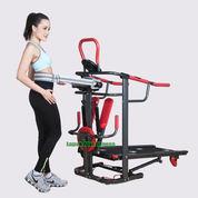 Alat Fitness Treadmill Manual 6 Fungsi Anti Gores TL-004 New Total Fitness Murah