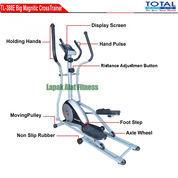 Alat Olahraga Sepeda Fitnes Statis Elliptical Crosstrainer Bike TL-388E Total Fitness