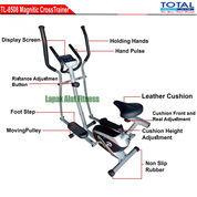 Alat Olahraga Sepeda Fitnes Statis Elliptical Crosstrainer Bike TL-8508 New Total Fitness