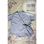 Blouse Kimono Warna Light Grey (22882123) di Kota Tangerang