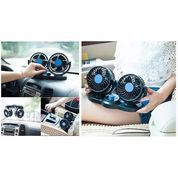 Kipas Angin Mobil YZH-T303 Double-Headed Fan Aksesoris Mobil Interior