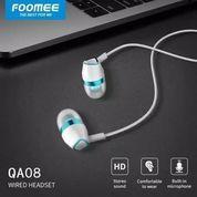 Headset Handsfree Earphone Foomee QA08 Wired HD Stereo Sound (22943335) di Kota Surakarta