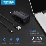 Charger Cas Foomee CC18 Charger Adaptor + Kabel Micro USB 2.4A Fast