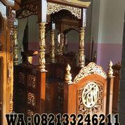 Mimbar Masjid Ukiran Kaligrafi Kayu Jati Murah (22947979) di Kab. Jepara