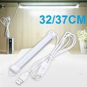 Lampu Neon LED USB Belajar Kerja Rumah Komputer Cahaya Tempel 32cm