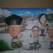 Jasa Buat Lukis Wajah Pensil Sketsa Wajah Dan Karikatur (22993683) di Kab. Bekasi