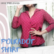 Preloved Pl Baju Blouse Top Atasan Pattern Polkadot Maroon Wanita Cewek Murah Korea Vintage Bohemian (22994871) di Kab. Indramayu