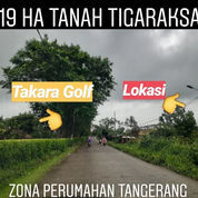 Tanah Tigaraksa 19 Ha Depan Takara Golf Kab Tangerang (22996075) di Kab. Tangerang