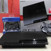 PS3 Slim HD 500GB Full 100 Judul Game & 2 Stik PS3