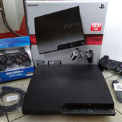 PS3 SLIM Terbaik 500GB Isi 100 Judul Game+2 Stik Wirless