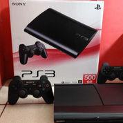 PS3 Super Slim 500GB Top Banget,Lkp 2 Stik+100 Judul Game