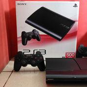 PS3 Super Slim Terbaik 500GB Top Banget,Lkp 2 Stik+100 Judul Game